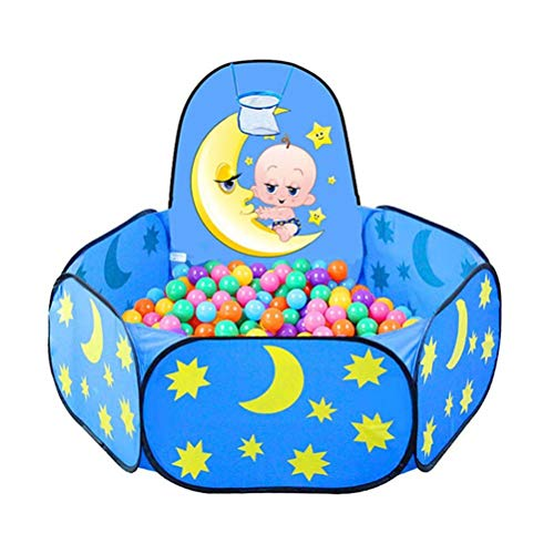 Hbao Plegable Baby Star Moon Balls Pool Pit Interior Exterior Niños Bebé Juego de Juguete Casa de Juegos Regalo para niños Tienda de campaña con Marco de Bolas
