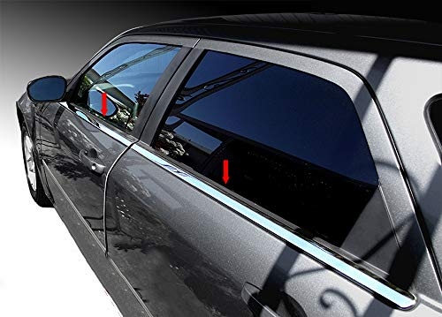 Tyger Auto Made in USA! Works with 2005-2010 Chrysler 300/05-2009 Dodge Magnum 4PC Stainless Steel Window Sill