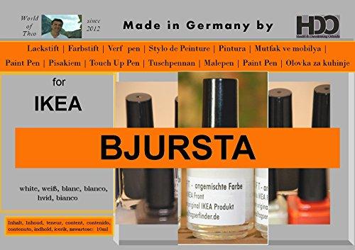 HDO Lackstift Farbstift Touch-up-Pen for Ikea Bjursta White