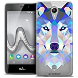 Caseink - Coque Housse Etui pour Wiko Tommy [Crystal Gel HD Polygon Series Animal -...