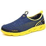 Aerlan Gym Shoes Lightweight Shoes,Calzado, Calzado Deportivo al Aire Libre para Hombre, Calzado para vadear, Calzado para Caminar, Azul Profundo_42,Botas de montaña Deportivas