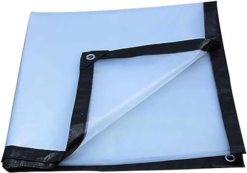 T-ShommeET Bache Transparente Imperméable à l'eau Antigel Isolant Anti-Poussière en Plastique Extérieur Plusieurs Tailles Feuille Imperméable à l'eau (6x8m)