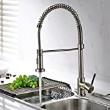 TIMACO 9009 – 1 N Gastro 98199815 monomando para cocina grifo para cocina (ducha de níquel cepillado …