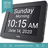 Robin Digital Day Clock 2.0 with Custom Alarms and Calendar Reminders (2020 Version)