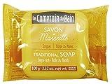 Jabón de Marsella Tradicional con Aceite de Almendras Dulces y Glicerina Le Comptoir du Bain 100 g