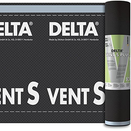 Dörken Delta Vent S Plus Unterspannbahn diffusionsoffen und selbstklebend 50 x 1,5 m für Steil-Dach
