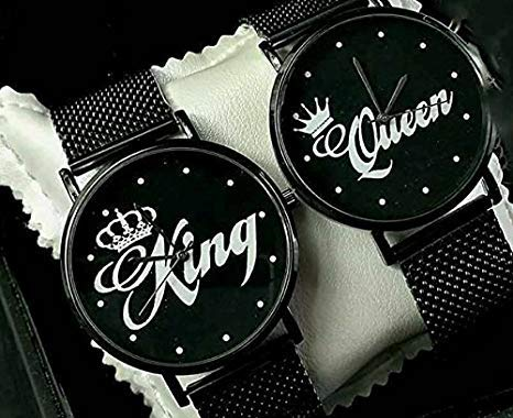 love print Coppia di Orologi Da polso You And Me King & Queen Elegance