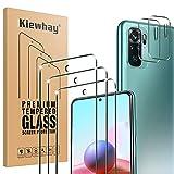 Kiewhay Schutzfolie Kompatibel mit Xiaomi Redmi Note 10/ Note 10S Panzerglas 6.43'', 3x Schutzfolie +2x Kamera Panzerglasfolie, [9H Festigkeit] 99,99prozent HD Panzerglasfolie für Redmi Note 10/Note 10S -5 Stück
