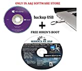 Windоws 10 Professional OEM DVD | 64-Bit Genuine,Original Product + BACKUP USB +FREE HIREN'S BOOT, Repair Recover Restore