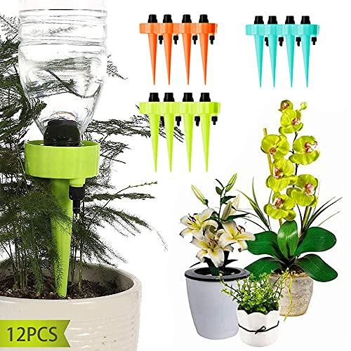 JINGYOUDAMAI 12PCS Automatische Bewässerung von Pflanzen - Blumen - Garten,TopfpflanzenGarten Pflanzen Blumen Bewässerungssystem,Wasserspender für Pflanzen,Einstellbar Bewässerungssystem