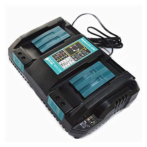 Nueva Doble Cargador de pilas 14,4 18V BL1830 Bl1430 DC18RC DC18RA enchufe de la UE (Color : Black)