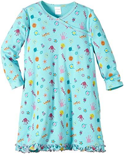 Schiesser Mädchen Nachthemd Nachthemd 1/1, Gr. 92 (Herstellergröße: 092), Grün (mint 708)