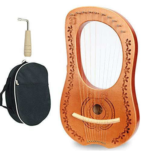JIASHU Juego de Cuerdas Libres de Cuerdas de Metal Lyre Harp