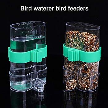 JPYH 2PCS Abreuvoir À Oiseaux Automatique Mangeoires, Oiseaux Distributeur d'eau Automatique Portable en Plastique pour Perroquet Petit Animal Utilisation d'alimentation
