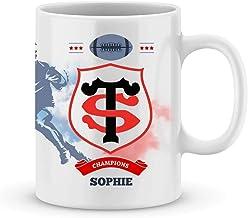 Mug Stade Toulousain Rugby Top 14 à personnalisé avec votre prénom - Cadeau personnalisé rugby top 14 Toulouse - Cadeau an...