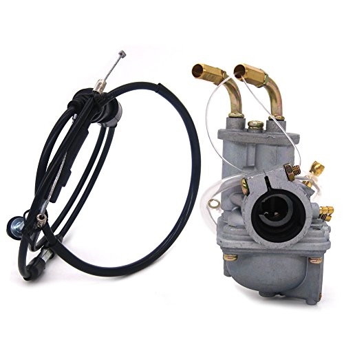 NIMTEK Carburetor Carb W/Throttle Gas Cable Fits Yamaha PW50 PW 50 1981-2009 Motorcycle New