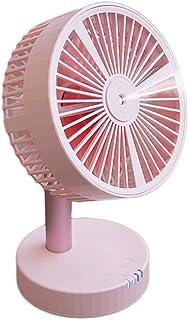 JT- Mini acondicionador de Aire USB Mini Ventilador Mudo Escritorio de Escritorio en el hogar Recargable portátil con Aerosol refrigeración Aire Acondicionado Gran Viento pequeño Ventilador eléctrico