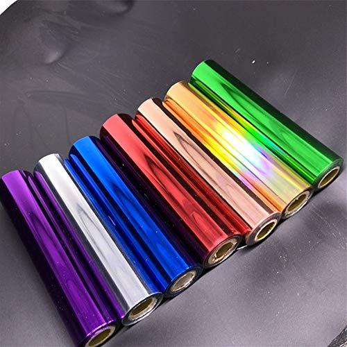 LMSD 80M / Roll Oro Plata Hot Stamping Foil Rollos de Papel for la Transferencia laminador laminadora de Calor en la Impresora láser de Bricolaje Tarjeta de Papel del Arte ( Color : Colorful )