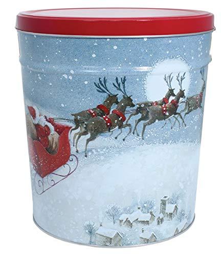 For Sale! C.R. Frank Popcorn - Gourmet Popcorn Tin, 3.5 Gallon, Santa's Sleigh (All Caramel)
