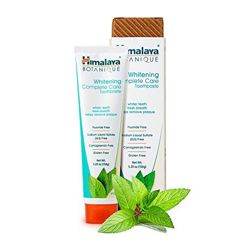 Himalaya Botanique Toothpaste - Natürliche Zahnpasta ohne Fluorid, SLS, Gluten & Carrageenan - Entfernt Plaque, Mundgeruch, verhindert Karies und Zahnfleischbluten (WHITENING + Mint, 1-Pack)