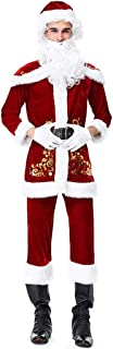 Men's Christmas Vacation Light Up Santa Suit, Red/White, (Size : L)