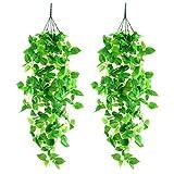 Yizhet Plantas Hiedra Artificial, 2 Piezas Artificial Hiedra...