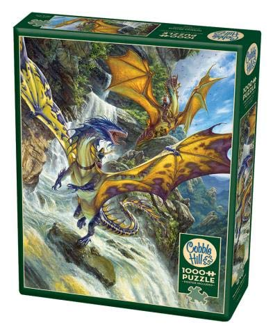 Cobblehill 80105 - Puzzle de 1000 piezas, diseño de dragones de cascada , color/modelo surtido