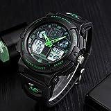 JSL Multi-funcional hombres s deportes reloj electrónico tendencia estudiante personalidad reloj deportes al aire libre camping reloj rojo-verde