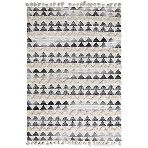 LMXJB Moderne BöHmische Trendy Teppiche Mit Quaste   5,2×7,5 Ft ÜBergroßEs Reversible Umweltfreundlich   Reine Hand Gewebtes Geometrisches HäSsliches Dreieck   ZeitgenöSsischer Office Square Teppich
