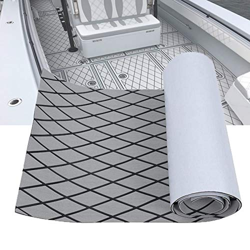 LUBEMIDA EVA Boat Flooring Carpet with Cross Groove Marine Teak decking Sheet...