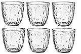 KADAX Trinkgläser, 6er Set, Wassergläser, Saftgläser aus Glas, Gläser für Wasser, Drink, Saft, Party, Garten, Universalgläser, Cocktailgläser, Getränkegläser, modernes Design (280 ml, Spirale)