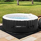CosySpa Inflatable Hot Tub Spa – Outdoor Bubble Jacuzzi | 2-6 Person Capacity – Quick Heating (Hot Tub Only - 4 Person)
