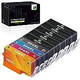 JARBO Compatible Ink Cartridge Replacement for HP 564XL, 5 Color (1 Set+4 Black), Used in HP Photosmart 5520 6520 7520 5510 6510 7510 7525 B8550 C6380 Premium C309A C410 Officejet 4620 Deskjet 3520