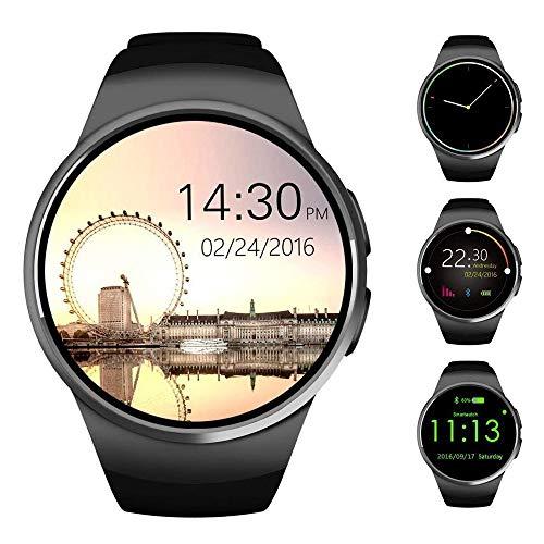 Yarrashop Smart Watch-Smartwatch mit Herzfrequenzmesser, Bluetooth-Smartwatch unterstützt SIM-Karte, funktioniert mit Android und iOS System-Smartwatch