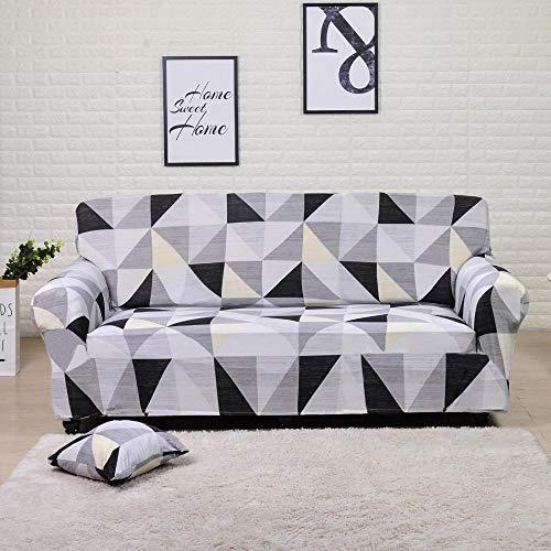 Funda de sofá elástica para Sala de Estar Funda de sofá de Licra para sofá de Esquina Funda de sillón A16 4 plazas