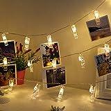 写真飾りライト Chamsaler LED ストリングスライト 写真クリップ DIY壁飾り LEDイルミネーションライト 3M 20LED ジュエリーライト 祝日 正月 誕生日 新年 クリスマス パーティー 結婚式