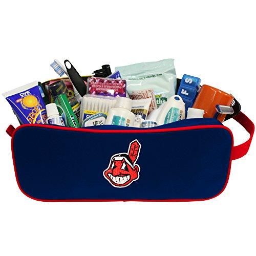 """Charm14 MLB Reiseetui mit gesticktem Logo von Little Earth, Unisex, Cleveland Indianer, 12"""" x 5.5"""""""
