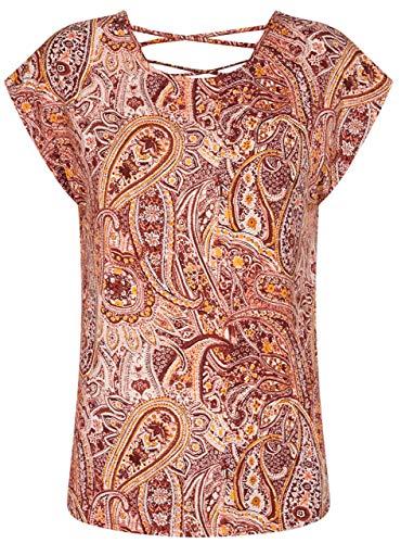 SOYACONCEPT - Damen Bluse mit Paisley Print Rücken-Details SC-MARICA AOP 95 - Größe XL