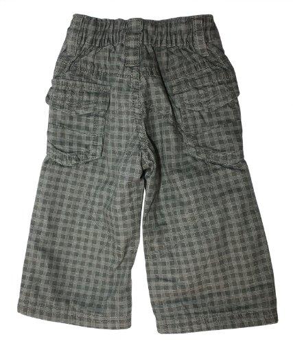 DIRKJE Babywear - garçons Pantalon Cargo doublé (Longue) en Gris foncéà Carreaux - Gris, Gris, 3-6 mois/62