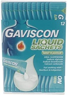 Gaviscon Liquid Satchet Mint Flavour x12