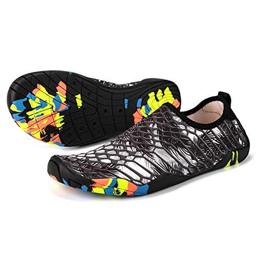 Hotroad Lightweight Barefoot Water Shoes Slip On Beach Sandals for Women Men and Kids River Camping Trip Sports Running Swim Pool Shower Stuff Aqua Yoga Socks Surf Slipper, White, 9 Women/7.5 Men