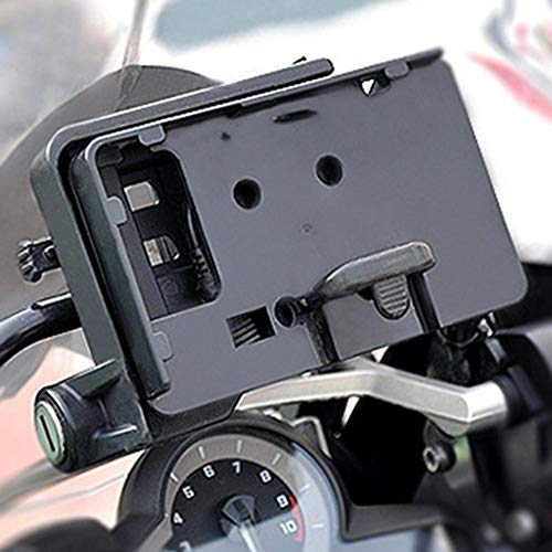 Urben Life Smartphone Halterung für Motorrad, Motorrad Handyhalterung Universal mit USB-Ladegerät Für BMW R1200GS F700 800GS CRF1000 Honda Africa Twin CRF1000L 2016 Motorrad
