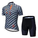 GFFTYX Ciclismo Set - Ciclo Jersey y los Cortocircuitos de la Camisa Juego de los Hombres Respirables al Aire Libre de la Bici de Verano for jóvenes Ropa de la Bicicleta (Color : #01, Size : XXXXL)
