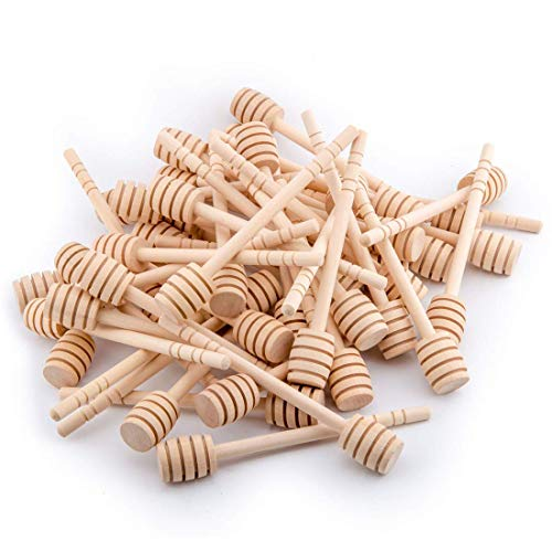 Wooden Honey Dipper Sticks 100 Packs 6 Inch 100 Pack