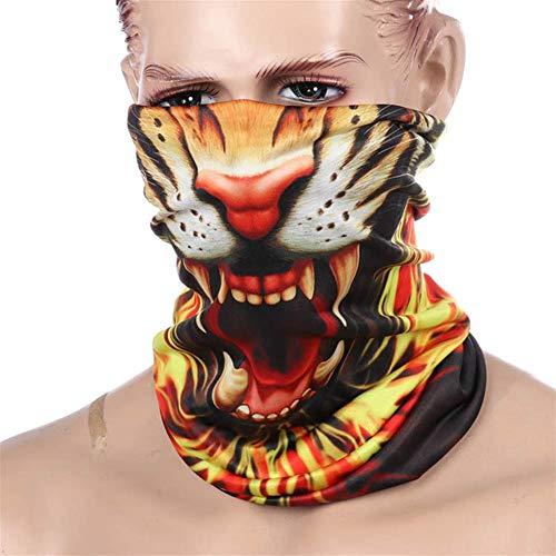 FEIGER Unisex Bandana Gesichtsmaske Schal Balaclava Halloween Clown-Party-Partei-Schablonen-Staub Tuch waschbares Wind Motorrad Radfahren Mask,005