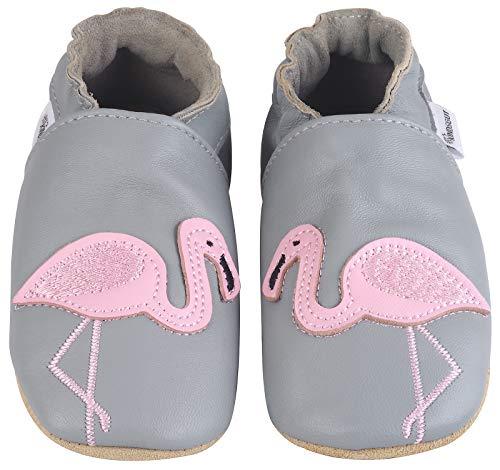 Kindsgut Krabbel-Schuhe, Kita, Baby, echtes Leder, Gr. 20/21, Flamingo