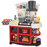Toy Kitchen Playset - Kids Play Kitchen with Light & Sounds,52 PCS Kitchen Food Accessories - Pretend Play Kitchen Toys for Girls Boys