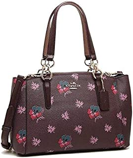 Coach bag F11932 Mini Christie Carryall Coated Canvas Wildflower Print Oxblood
