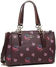 Coach bag F11932 Mini Christie Carryall Coated Canvas Wildflower Print Oxblood