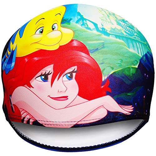 alles-meine.de GmbH 2 Stück _ Badekappen / Badehauben - Disney Prinzessin - Arielle die Meerjungfrau - 1 bis 8 Jahre - Kinder - Stoff - für Mädchen Jungen / Mädchenbadehaube - La..